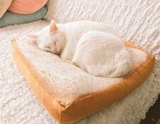 Pet Fashion Cartoon Bread Toast Cushion Soft Plush Cat Small Dog Bed Katzenbett