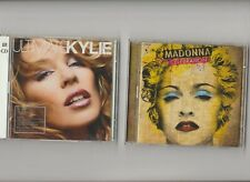 Madonna Celebration + Ultimate Kylie Minogue Greatest Hits / 2 Double CD Albums