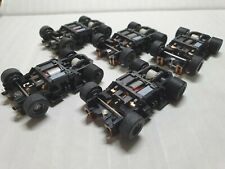 TYCO  440x2 wide chassis complete lot of 5 ,oversized grey wheels, hot !!!