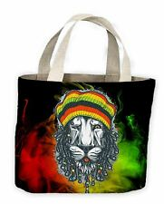 Lion Of Judah Reggae Tote Shopping Bag For Life - Rasta Bob Marley