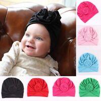 Cute Toddler Newborn Kids Baby Boy Girl Turban Cotton Beanie Hat Winter Warm Cap