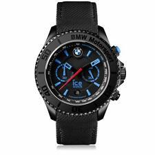 Armbanduhr Herrenuhr Quarz Analog Leder Armband Ice Watch BMW Motorsport schwarz