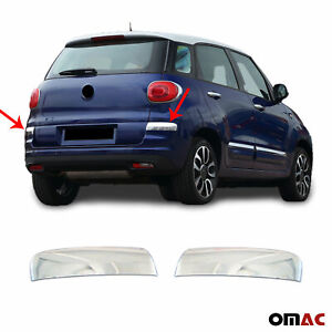 Chrome Rear Bumper Corner Guard Cover 2 Pcs S. Steel Fits Fiat 500L 2018- 2020