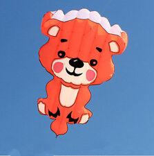 Free shipping NEW 4.5ft Bear Power Sortware Kite outdoor FUN Toys  SINGLE LINE