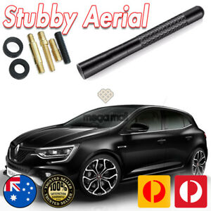Antenna / Aerial Stubby Bee Sting for Renault Megane RS Sport Black Carbon 12CM