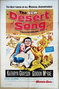 The NEW Desert Song 1953 Gordon McRae holding sexy Kathryn Grayson! US Poster