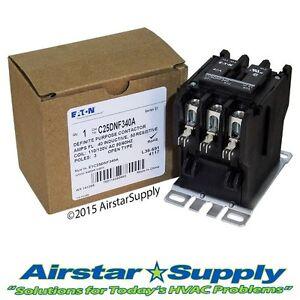 C25DNF340A Eaton / Cutler Hammer Contactor - 40 Amp • 3 Pole • 110/120V Coil