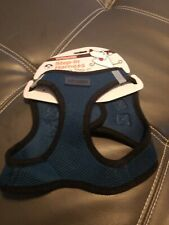"Voyager Step-In Dog Harness, All Weather Mesh, Medium (Chest 16-18"") Blue collar"