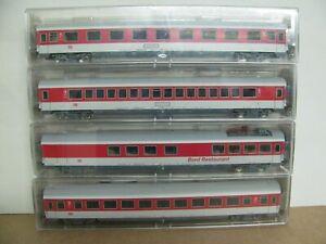 Fleischmann Wagen-Set IC, 5101, 5102, 5106, 5109 der DBAG.