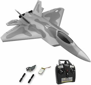 Top Race, Remote Control 4 Channel RC Fighter Jet Airplane; Gray; TR-F22B