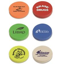 250 Personalized Round Eraser Imprinted With Your Logo / Message School Giveaway