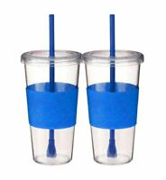 Copco Sierra On The Beach Tumbler With Straw BPA Free 24 Oz 2 Pack - Royal Blue