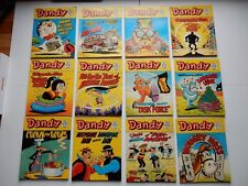 x12 VINTAGE DANDY Comic Library No 76-87 1986 British Comics Libraries Laughter