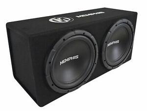 """Memphis Audio SRXE212V Dual 12"""" 1000w Vented Loaded SRX Car Subwooer Enclosure"""