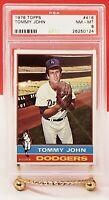 1976 TOPPS TOMMY JOHN #416 PSA NM-MT 8