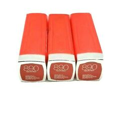 3 Pack Maybelline Colorsensational Lipstick 890 Neon Red New Free Shipping