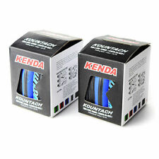 x2 KENDA Kountach K1092 700 x 23C Road Bike Bicycle Clincher Tires Tyres - Blue