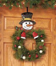 Adorable HOLIDAY SNOWMAN WREATH HANGER, NEW!