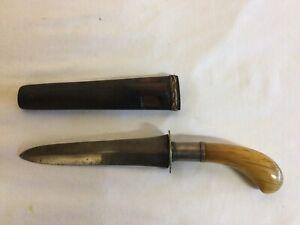 Philippines Moro Gunong / Punyal Dagger with Banati with Scabbard