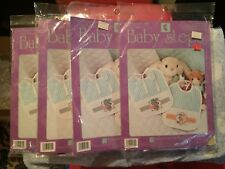 Lot of 5 Designs for Needle cross stitch kits Baby Steps bibs announcement 1994