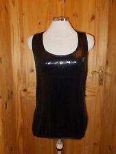 NEXT black sequin racer back long party evening camisole vest tunic top 12 40