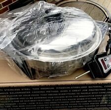 "Saladmaster 12"" Electric Oil Core Skillet with Cover (Brand New) Newest Design"