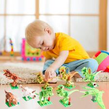 12 PCs Children DIY Dinosaur Building Blocks Kids Educational Toys Bricks Lot