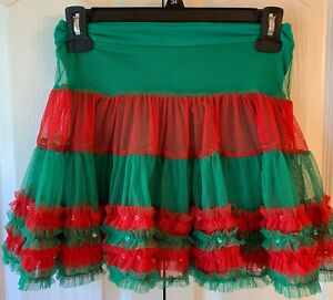 Ugly Tacky Christmas Tutu for Girls Christmas Sweater Party!  Size M 10/12