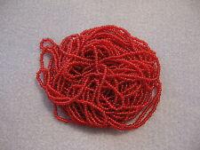 10/0 HANK RUBY RED TRANSPARENT CZECH GLASS SEED BEADS