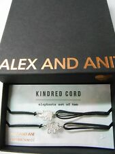 Alex and Ani Kindred Cord Elephants Set of 2 Bracelets Sterling Silver Nwtbc