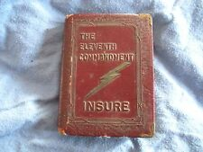 Leather Book Bank - The Eleventh Commandment Insure - Zell Products Co. of NY