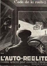 LYON PARIS AUTO REELITE CODE ROUTE PIERRE ROBIN CAR PUBLICITE 1926 FRENCH AD