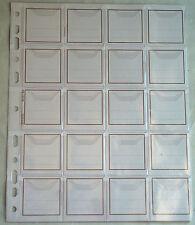 Buste perf.portamonete trasparenti a 20 tasche in conf.da 10 per raccoglitori