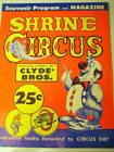 CIRCUS PROGRAM SHRINE CIRCUS 1965