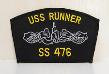 USS RUNNER SS 476 PATCH PATCHES TENCH CLASS WW2 USN US NAVY AMBERFISH NEW