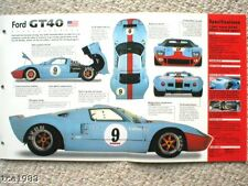 FORD GT40/GT-40 SPEC SHEET/Brochure:1964/1965/1966/1967