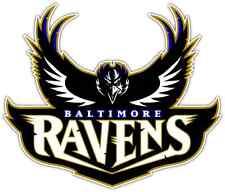 """Baltimore Ravens NFL Football Car Bumper Locker Notebook Sticker Decal 5""""X4"""""""