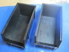"""Qty 2 ESD Bin Black Conductive Stack Hang 10-7/8""""L x 5-1/2""""W x 5""""H Metro SB91055"""