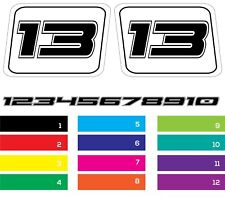 Sticker Decal  Vinyl set print  Side Ford Mustang GT350 racing numbers set door