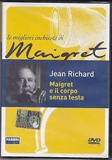 Dvd **MAIGRET E IL CORPO SENZA TESTA** con Jean Richard nuovo 1974
