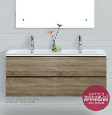 SIENA | 1500mm White Oak PVC THERMAL FOIL Timber Wood Grain Vanity CARCASS ONLY