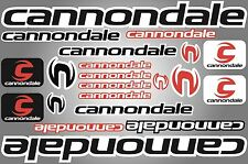 Cannondale decals stickers sheet (cycling, mtb, bmx, road, bike) PRINTED logo