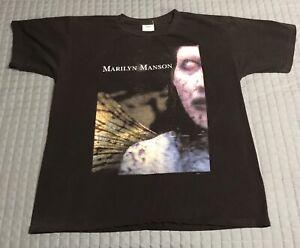 Vintage MARILYN MANSON T-Shirt Antichrist Superstar Size L