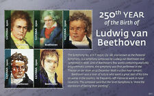 More details for guyana music stamps 2020 mnh ludwig van beethoven composers famous people 5v m/s