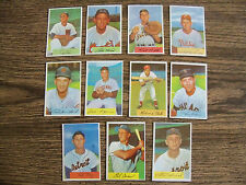 1954 BOWMAN BASEBALL LOT OF 11 CARDS EX+/NM CONDITION