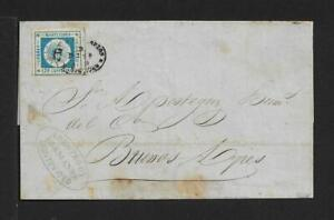 URUGUAY 120 cts on cover to BUENOS AIRES 1859 CERTIFICATE