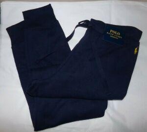 NWT Mens Polo Ralph Lauren Sweatpants /Joggers~NAVY~LARGE