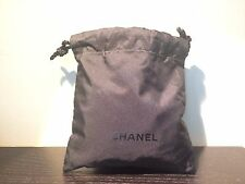 TWO Chanel Makeup Cloth Drawstring Bags/Pouches in Black 5.2'' x 5.5''