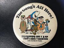 Frontier Village Amusement Park San Jose Hanna Barbara button 1979