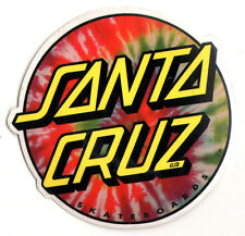 Santa Cruz Tie Dye Skateboard Sticker - skate snow surf board skateboarding 9cm